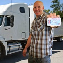 Truck driver with CDL after passing cdl practice test
